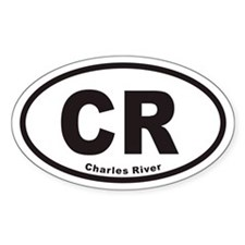 Charles River CR Euro Oval Decal
