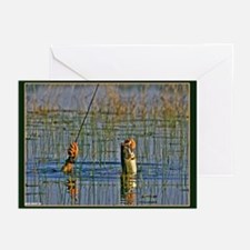 The Determined Fisherman Greeting Cards (Pk of 10)