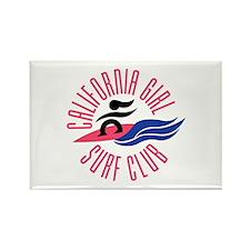 California Girl Surf Club Rectangle Magnet