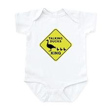 Talking Ducks Crossing Infant Bodysuit