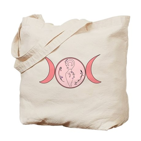 Pink Goddess Floral Tote Bag