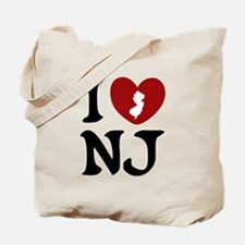I Love New Jersey Tote Bag