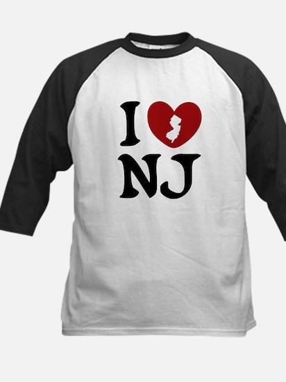 I Love New Jersey Kids Baseball Jersey