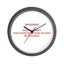 IMPOUNDED Wall Clock