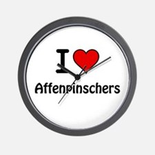 Affenpinschers Wall Clock