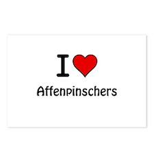 Affenpinschers Postcards (Package of 8)