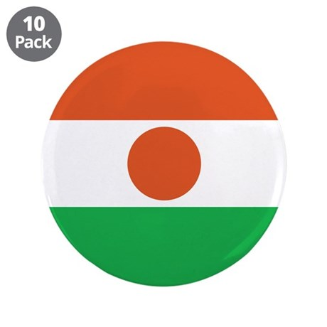 """Niger Flag 3.5"""" Button (10 pack)"""