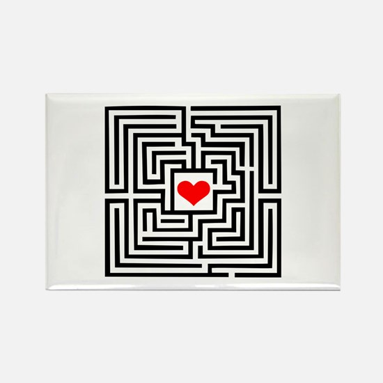 Labyrinth - Heart Rectangle Magnet