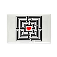 Labyrinth - Heart Rectangle Magnet (100 pack)
