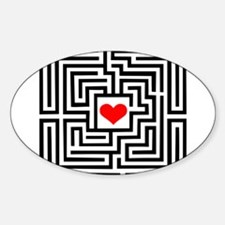 Labyrinth - Heart Oval Decal