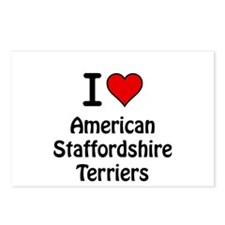 American Staffordshire Terrie Postcards (Package o
