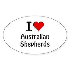 Australian Shepherds Oval Decal