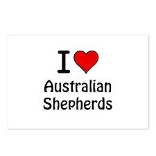 Australian Shepherds Postcards (Package of 8)