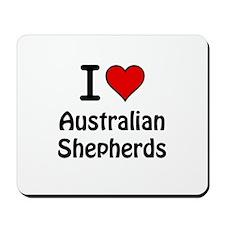 Australian Shepherds Mousepad