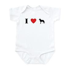 I Heart Belgian Laekenois Infant Bodysuit