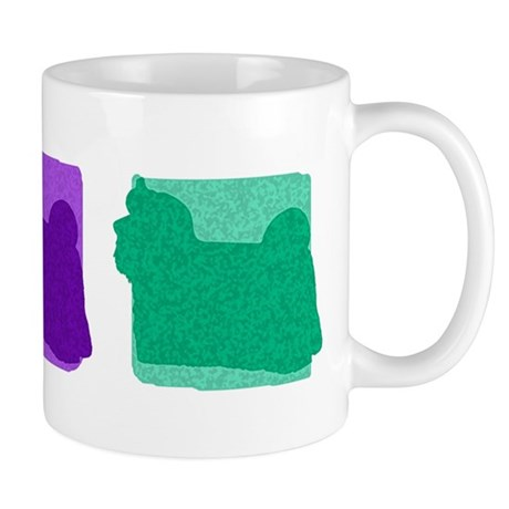 Color Row Maltese Mug