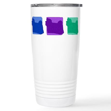 Color Row Maltese Stainless Steel Travel Mug