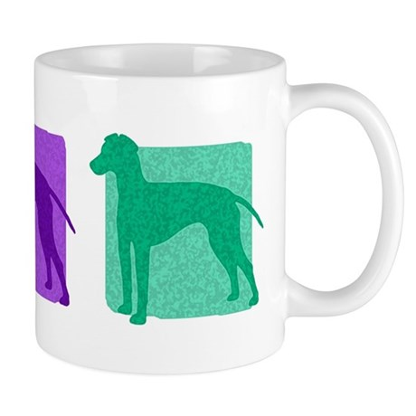 Color Row Manchester Terrier Mug