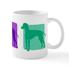 Color Row Manchester Terrier Mug