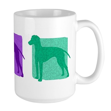 Color Row Manchester Terrier Large Mug