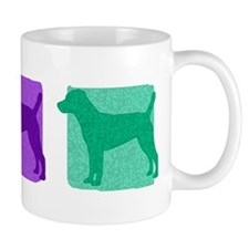 Color Row Patterdale Terrier Mug