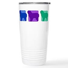 Color Row Polish Sheepdog Travel Mug