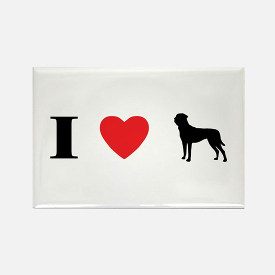 I Heart Tosa Inu Rectangle Magnet