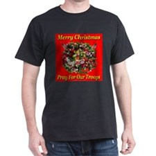 Merry Christmas Pray For Our Troops T-Shirt