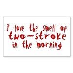 Two-stroke in the Morning Rectangle Sticker
