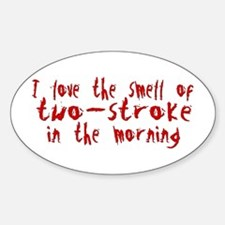 Two-stroke in the Morning Oval Decal
