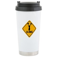 Cheerleader X-ing Stainless Steel Travel Mug