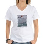 All Life Comes From The Sea Women's V-Neck T-Shirt