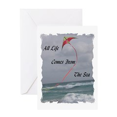 All Life Comes From The Sea Greeting Card