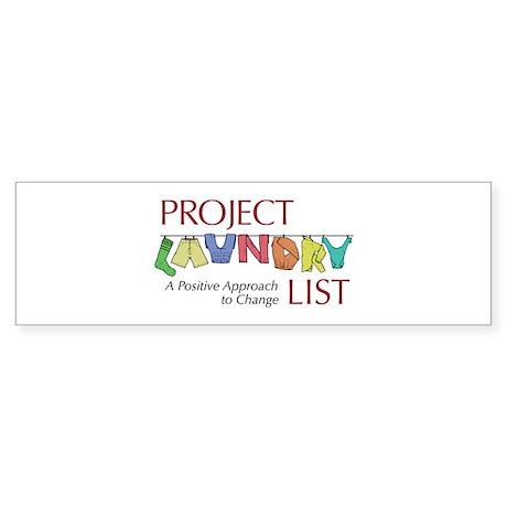 Project Laundry List Bumper Sticker
