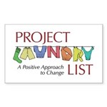 Project Laundry List Rectangle Sticker 50 pk)