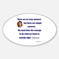 Reagan Simple Answers Oval Decal