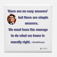 Reagan Simple Answers Tile Coaster