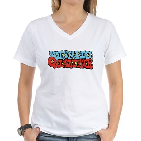 Ooolympic Qualifier Women's V-Neck T-Shirt