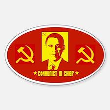 Anti Obama Communist Oval Decal