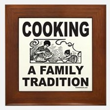 COOKING A FAMILY TRADITION Framed Tile