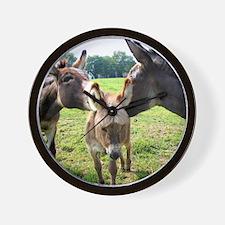 Miniature Donkey Family Wall Clock