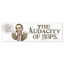 Hope, Change, Beer Bumper Bumper Bumper Sticker