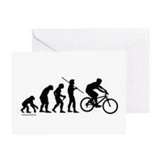 Bike Evolution Greeting Cards (Pk of 10)