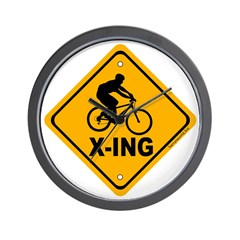 Cycle X-ing Wall Clock