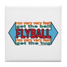 All About FLYBALL Tile Coaster
