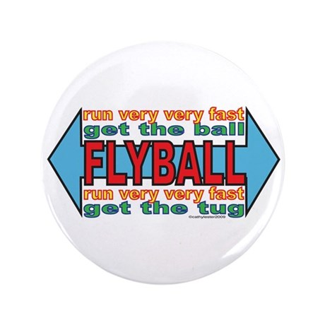 """All About FLYBALL 3.5"""" Button"""