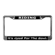 Riding License Plate Frame