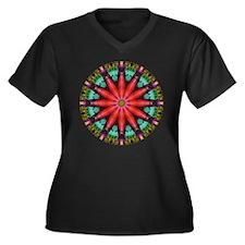New Bamboo Women's Plus Size V-Neck Dark T-Shirt