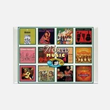 World Music Rectangle Magnet