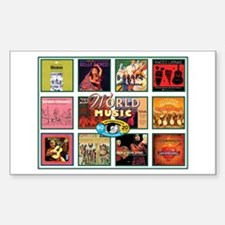 World Music Rectangle Decal